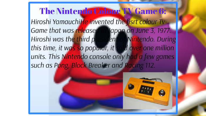 The History of The Nintendo Timeline by Taylor Yount on Prezi
