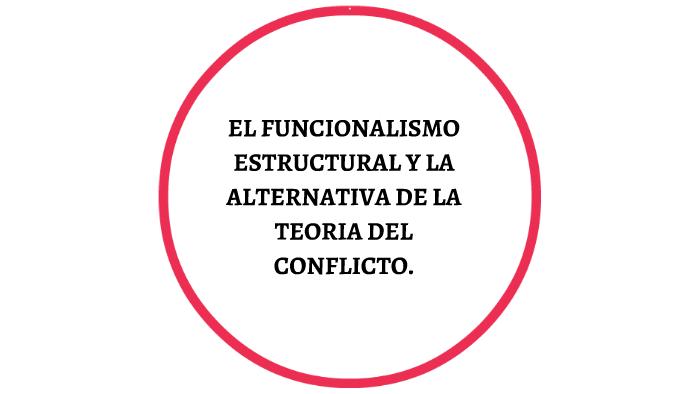 El Funcionalismo Estructural Y La Alterntiva De La Teoria De
