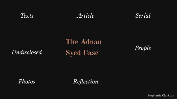 Serial Podcast Adnan Syed By Stephanie Clarkson On Prezi Next