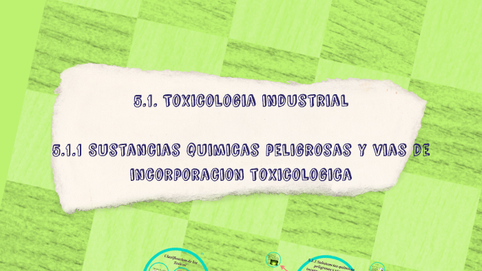 Copy of 5 1  Toxicología industrial  by Jose Benavides on Prezi
