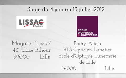 Powerpoint Rapport De Stage Lissac 2013 Alicia Bomy By