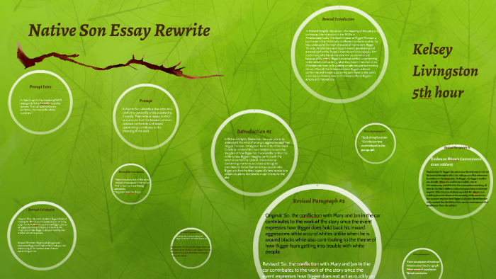 Essay Responsibility  Sad Story Essay also Love Essays Example Native Son Essay Rewrite By Kelsey Livingston On Prezi Evidence Based Practice Essay