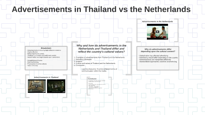 Advertisements in Thailand vs the Netherlands by Lieke