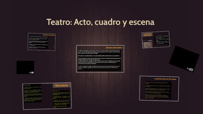 Teatro Acto Cuadro Y Escena By Josefina Reyes On Prezi