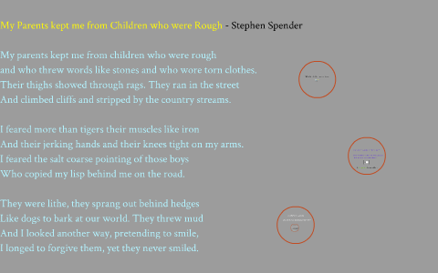 my parents by stephen spender analysis