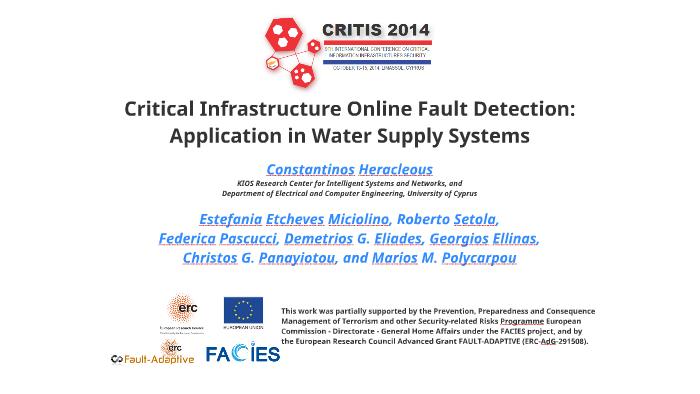 CRITIS2014] Critical Infrastructure Online Fault Detection