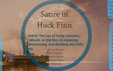 satire in huck finn