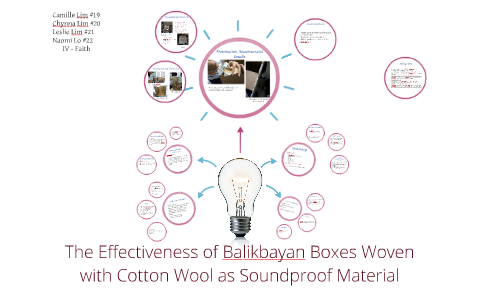 The Effectiveness of Balikbayan Boxes Woven with Cotton Wool