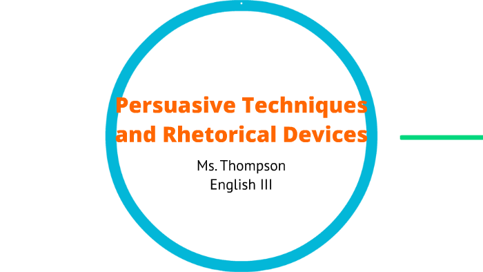 what are rhetorical techniques