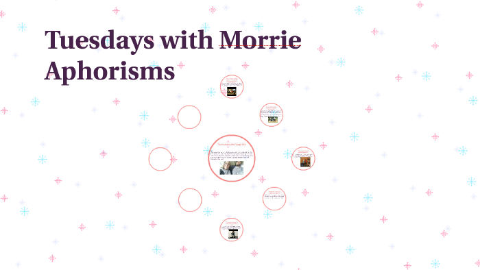 tuesdays with morrie aphorisms explained