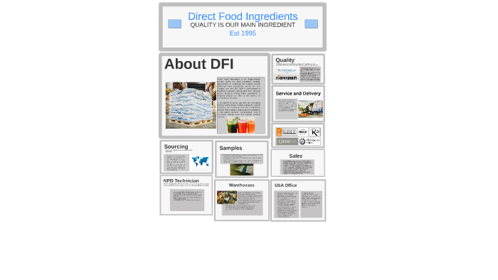Direct Food Ingredients by taylor presgrove on Prezi