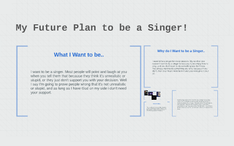 paragraph on i want to become a singer