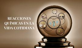 Reacciones Químicas En La Vida Cotidiana By Paola Hernández Toledo