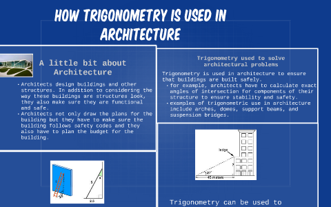 How trigonometry is Used in Architecture by Keira Ramsay on Prezi