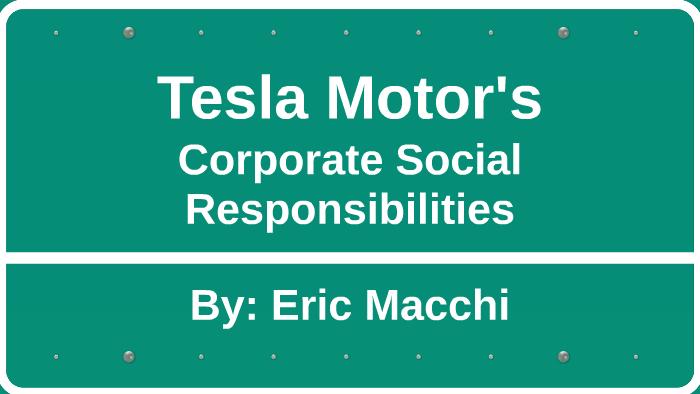 Tesla Motors CSR by Eric Macchi on Prezi