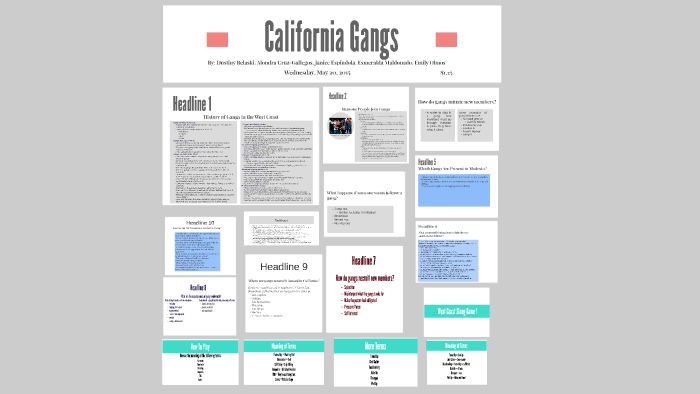 California Gangs by Dustiny Belaski on Prezi