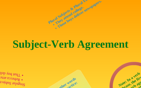 Subject Verb Agreement By Whitley Arens On Prezi
