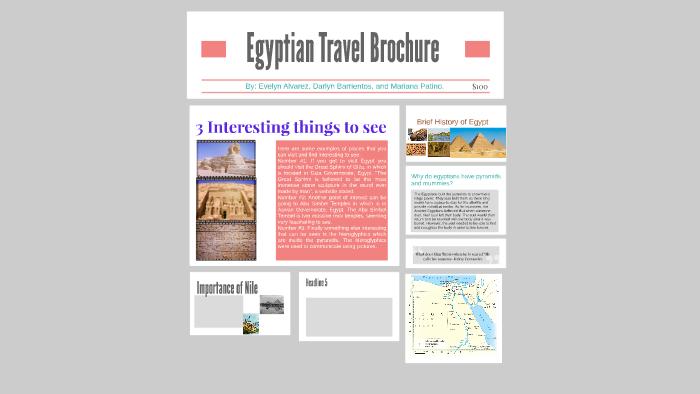 Egyptian Travel Brochure By Darlyn Barrientos
