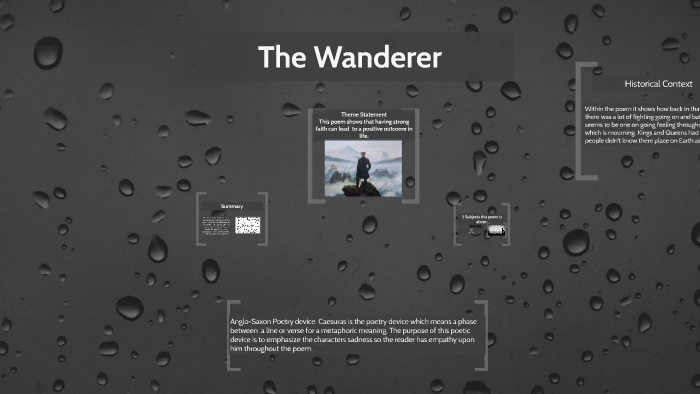 the wanderer poem theme