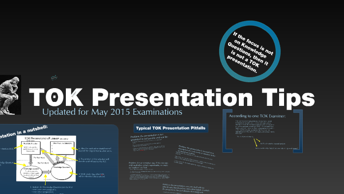 Tok Presentation Tips By Jeff Taylor