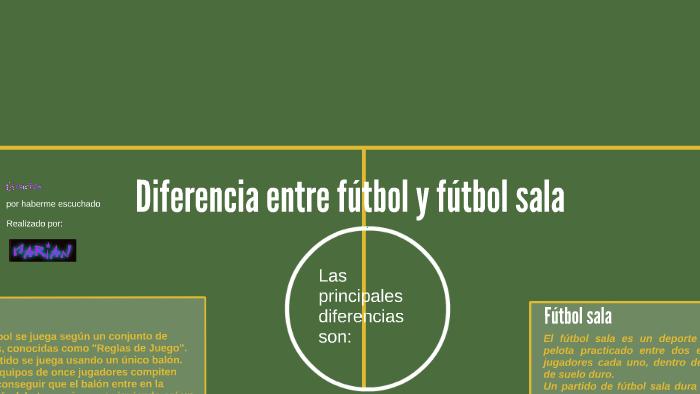 Diferencia entre fútbol y fútbol sala by Marián Santana Atta on Prezi 049817cdede88