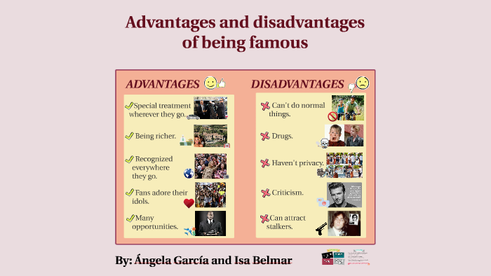Being A Celebrity Advantages And Disadvantages