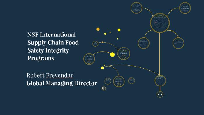 NSF International Supply Chain Food Safety Integrity Program
