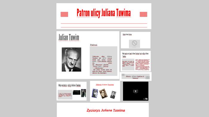 Patronem Ulicy Julian Tuwim Jak Sama Nazwa Mówi Jest Julian