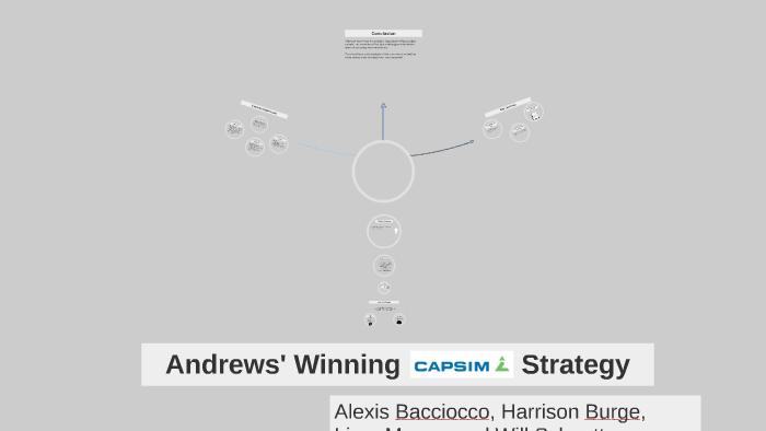 Andrews' Winning Capsim Strategy by Alexis Bacciocco on Prezi