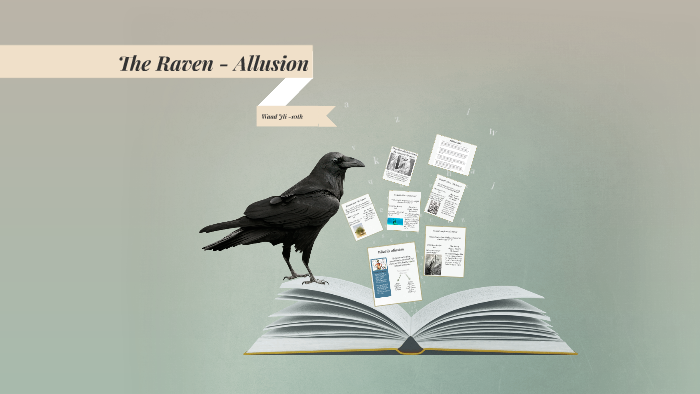 example of allusion in the raven
