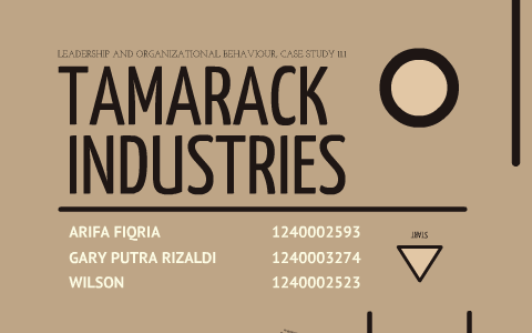 case study 11.1 tamarack industries solution