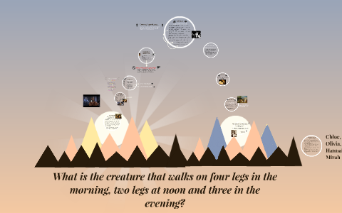 What Is The Creature That Walks On Four Legs In The Morning By Mirah Gocher