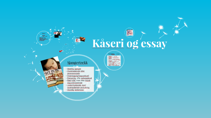 kjennetegn kåseri og essay