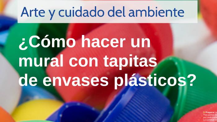 Como Hacer Un Mural Con Tapitas De Envases Plasticos By Laura Porta