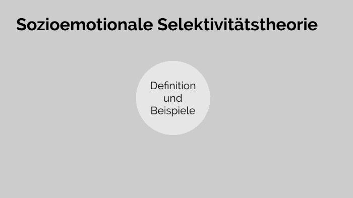 Sozioemotionale Selektivitätstheorie