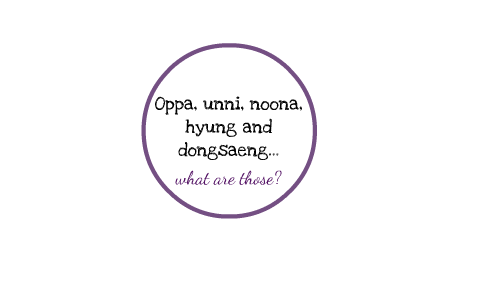 What is oppa, unni, noona, hyung and dongsaeng? by Alex A