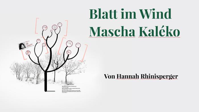 Blatt Im Wind By Hannah Rhinisperger On Prezi