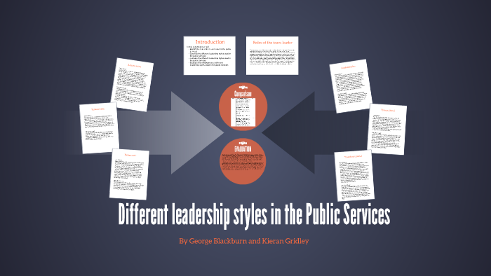 comparing leadership styles in the public services