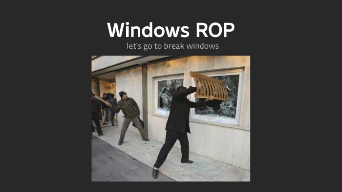 Windows ROP by 도현 김 on Prezi