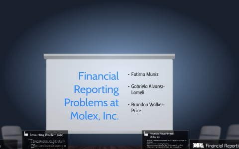 financial reporting problems at molex case solution