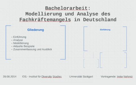 Bachelorarbeit Modellierung Und Analyse Des Fachkräftemange By Imke