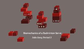 Biomechanics Of A Badminton Serve By Julie Song