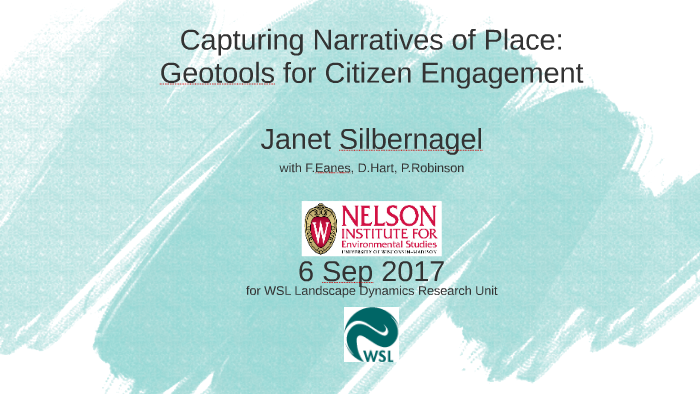 Capturing Narratives of Place: Geotools for Citizen Engagement by