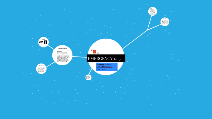 Emergency 1 1 3 By Emilio Montelongo