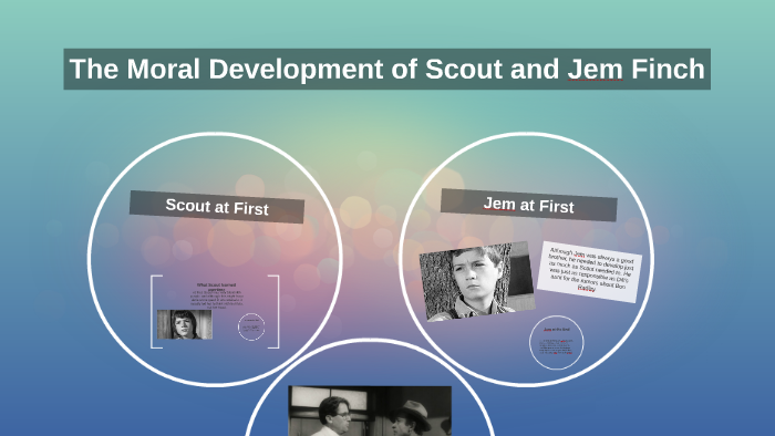 how does scouts morals develop throughout the novel