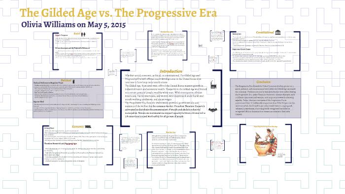 the gilded age vs  the progressive era by olivia williams