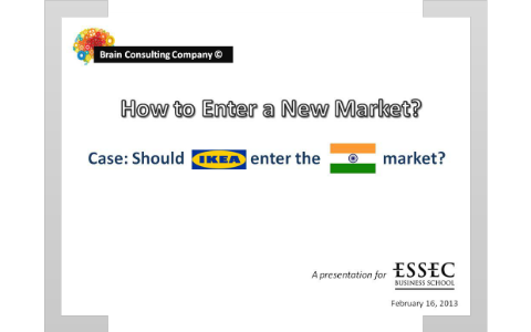 Consulting Presentation : Entering New Market by Thibault