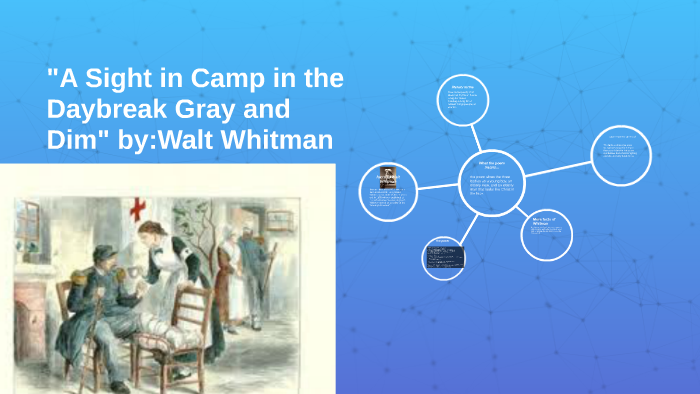 A Sight In Camp The Daybreak Gray And Dim ByWalt Whitm By Levi Moonier On Prezi