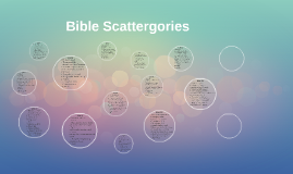 Bible Scattergories By Mary Owens