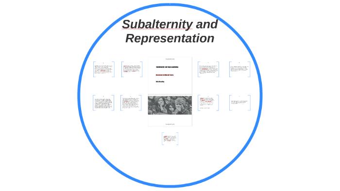 Subalternity